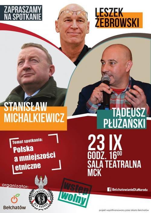 BdN: Michalkiewicz, Żebrowski i Płużański w Bełchatowie