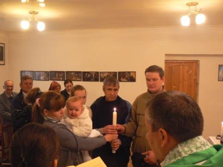 Chrzest w naszej kaplicy