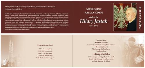 """ks. Hilary Jastak, wyjątkowy człowiek - zaproszenie (klub """"Gazety Polskiej"""")"""