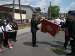 Odznaczenie sztandaru Złotą Odznaką - Zasłużony dla Ochrony Przeciwpożarowej