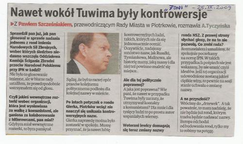 Przewodniczy Rady Miejskiej w Piotrkowie