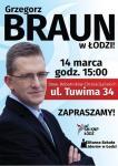 Grzegorz Braun - spotkanie w Łodzi