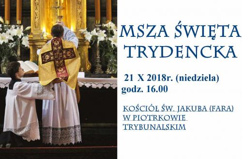 Msza Trydencka 21.10.2018