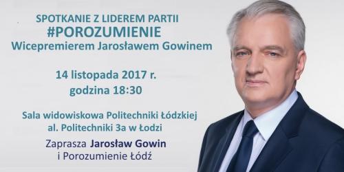 Spotkanie z Premierem Jarosławem Gowinem
